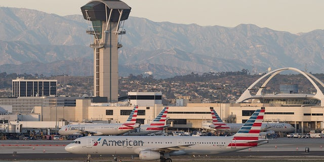 A person who appeared to be flying with a jetpack was reported near Los Angeles International Airport again on Wednesday