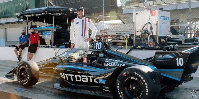 Johnson tested a Ganassi IndyCar at Indianapolis Motor Speedway in July.
