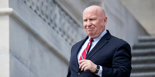 UNITED STATES - APRIL 4: Rep. Kevin Brady, R-Texas, walks down the House steps after the final votes of the week on Thursday, April 4, 2019. (Photo By Bill Clark/CQ Roll Call)