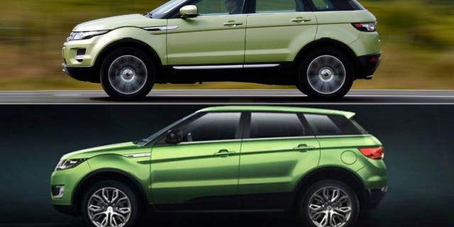 Landwind's model (bottom) is a near carbon copy of the Range Rover Evoque.