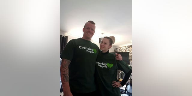 The couple raised over $6,300 forCransley Hospice with their skydiving stunt.
