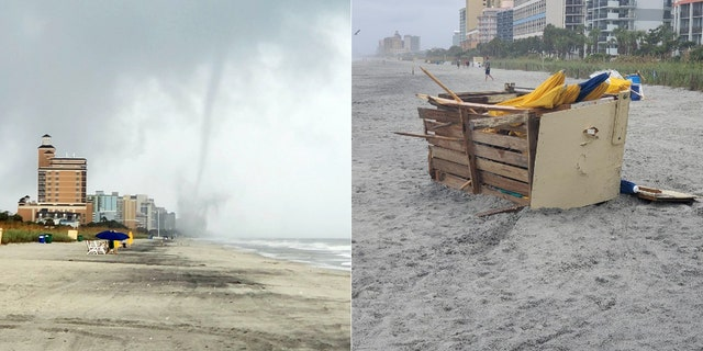 A tornado touched down Friday afternoon in Myrtle Beach, S.C, causing minor damage on the oceanfront.