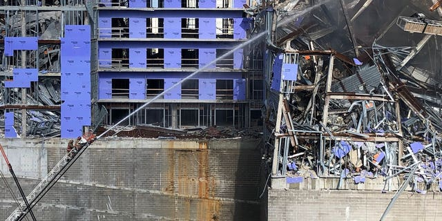 A fire has broken out at the New Orleans Hard Rock Hotel construction site. (New Orleans Fire Department/ Chief C Mickal)