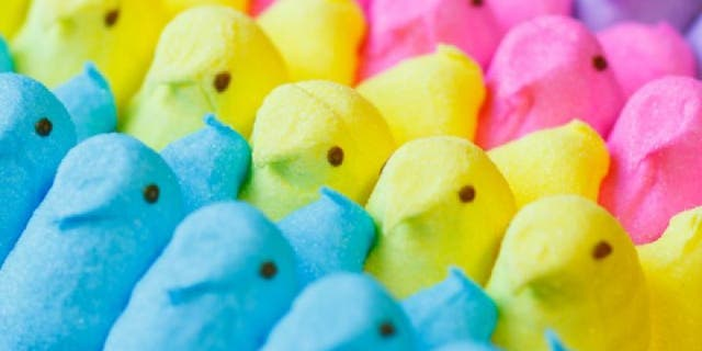 Peeps are made using gelatin, which is pork-derived, the brand shares on its website. James Cromwell and PETA are asking the company to move to a plant-based alternative.