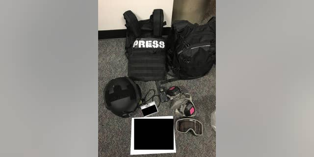 The Portland Police Bureau released photos showing the gear demonstrators were wearing at the time of their arrest.