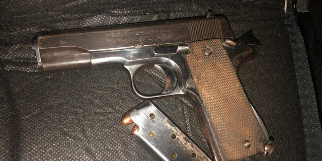 A handgun was found inside a car labeled with a red cross to signal it was working as an amateur medic. (Portland Police Bureau)