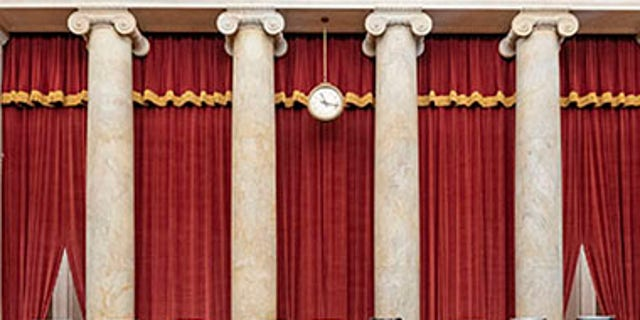 The seats of the Supreme Court justices. (Fred Schilling/US Supreme Court)