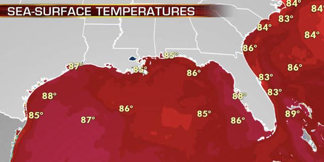 Water temperatures peak in the month of September across the Atlantic basin.