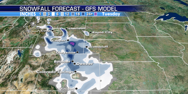 Denver is forecast to see snowfall next week. (Fox News)