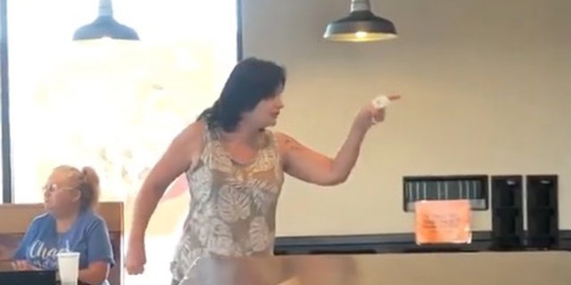 """You f---ed with the wrong mother----er! I'm Charlie f---in' Manson's daughter!"" the woman yells back at the Taco Bell employees."