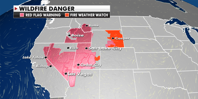 Wildfire danger warning in effect for Western states (Fox News)
