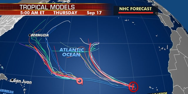 Forecast models for Paulette and Rene. Bermuda may need to keep an eye if Paulette draws closer.