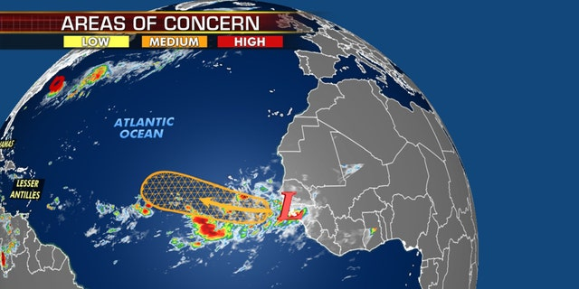 Another area of potential tropical development in the Atlantic.