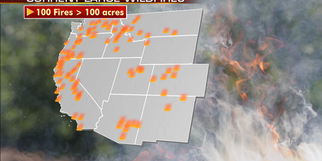 Current wildfires in the U.S. (Fox News)