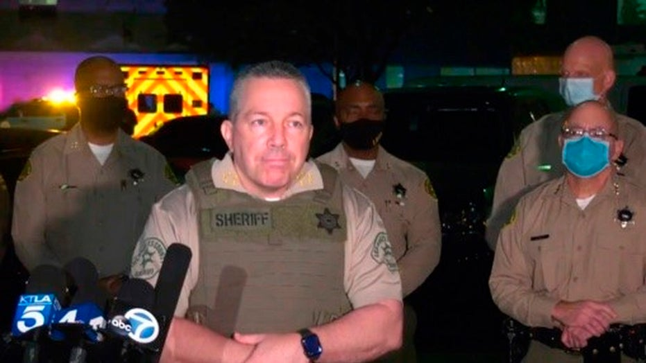 L.A. County sheriff updates manhunt for suspect who ambushed deputies