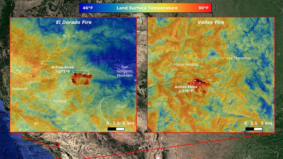 NASA measures California wildfire temperatures from the Space Station