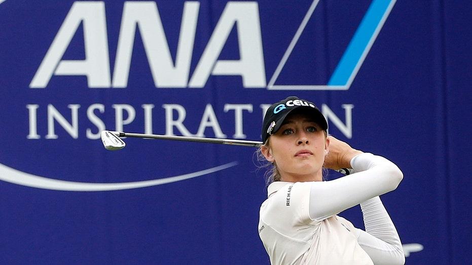 Final birdie gives Nelly Korda a 1-shot lead in LPGA major