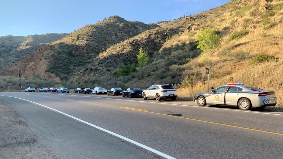 Colorado police stop 10 speeding Porsche drivers