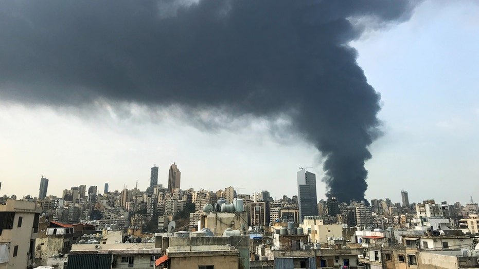 Fire breaks out at Beirut port a month after deadly explosion