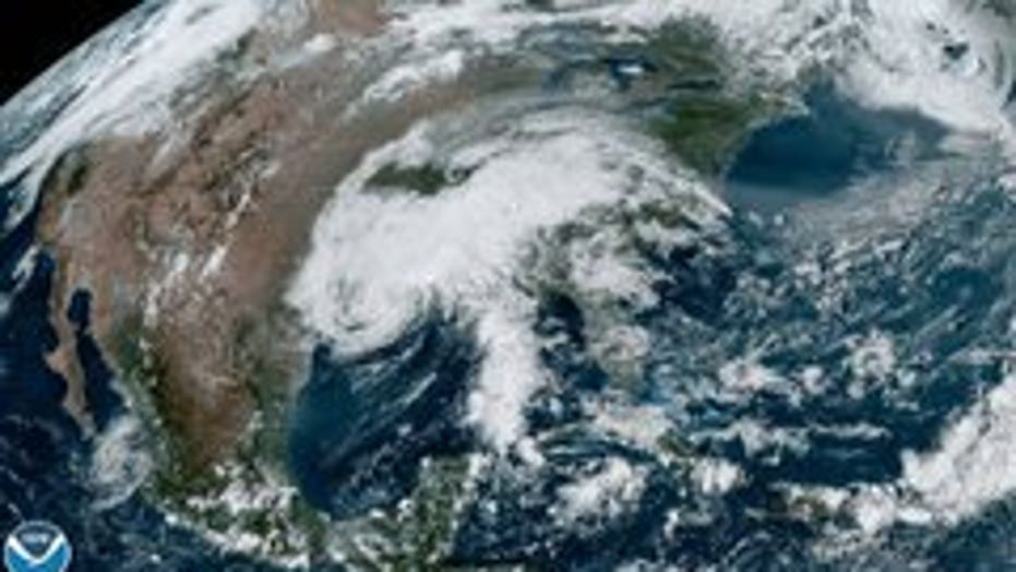 Beta remnants shown dumping rain over southern states in satellite image