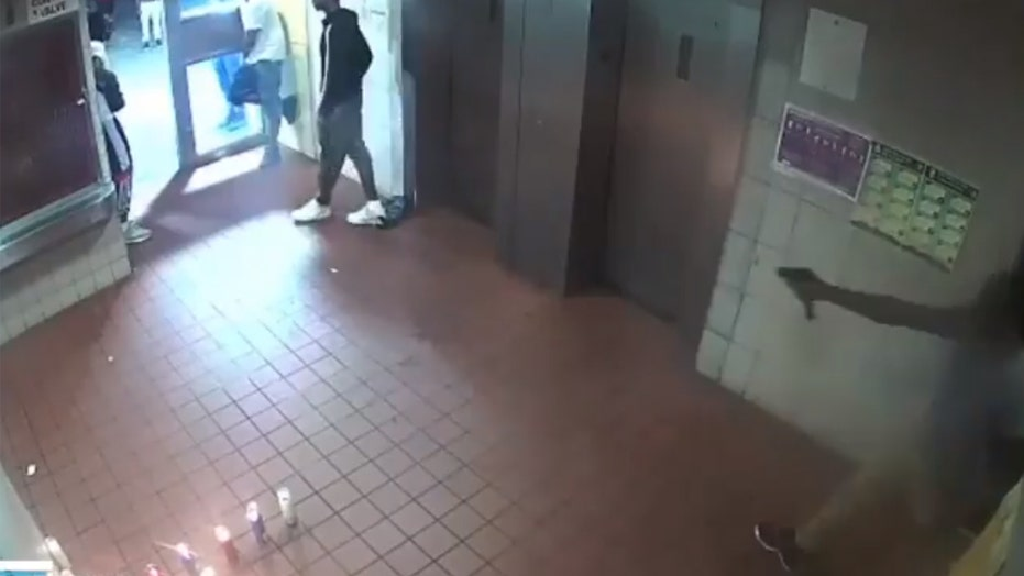 NYC shootings surge as gunfight in Brooklyn apartment lobby caught on video