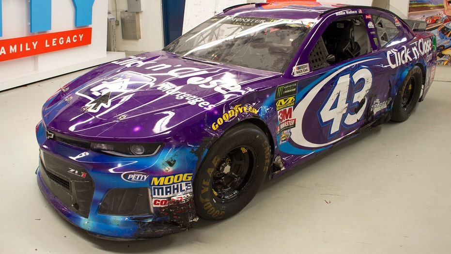 Bubba Wallace's wrecked 2018 Daytona 500 car being sold at charity auction
