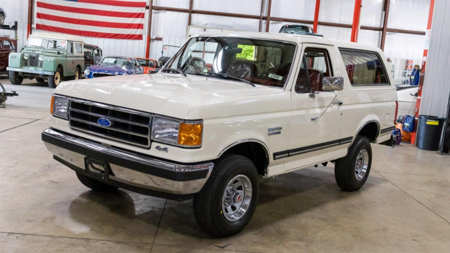 White 1991 Ford Bronco
