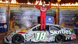 Kyle Busch wins Texas NASCAR playoff race 3 days after it started