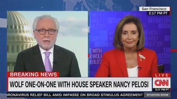 Pelosi lashes out at CNN's Wolf Blitzer as GOP 'apologist' during testy exchange on stalled COVID stimulus