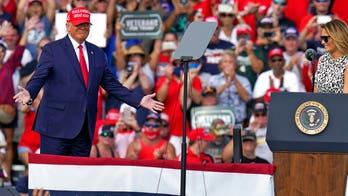 Trump, Biden trade barbs at dueling Florida rallies