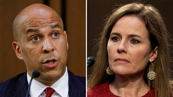 Twitter accuses Cory Booker of 'mansplaining' to Amy Coney Barrett at confirmation hearing