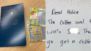 Person in police custody donates lottery winnings to department, tells officers to buy 'decent coffee'
