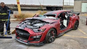 Firefighters destroy $90,000 Mustang Shelby GT500 ... here's why