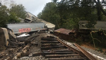Georgia train derailment sparks fire after Delta unleashes flash flooding, tornadoes across South