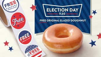 Krispy Kreme giving away free doughnuts on Election Day