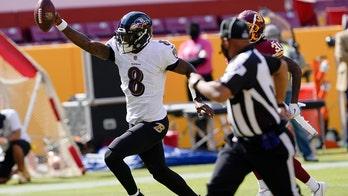 Ravens' Lamar Jackson rushes for 50-yard touchdown vs. Washington
