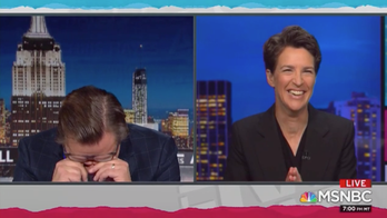 MSNBC's Maddow, Hayes seem to laugh at CNN's Jeffrey Toobin