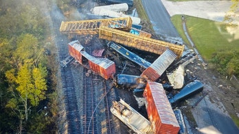 Texas train derails, spilling chemicals, knocking out power and prompting evacuations