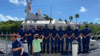 Coast Guard honors Florida boy, 11, in grandparents' rescue at sea