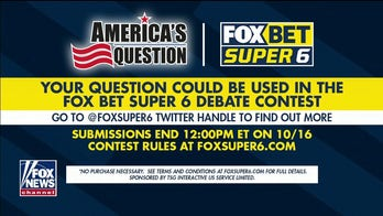 FOX Bet Super 6 presidential debate contest returns, and your question could be used in the game