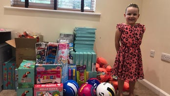 Girl, 4, starts making Christmas care packages for needy children after having bad dream