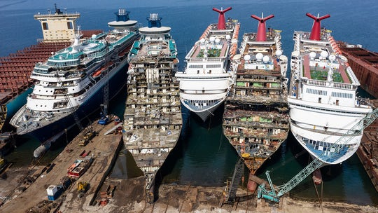 Major cruise ships are dismantled, scrapped for parts amid pandemic, photos show
