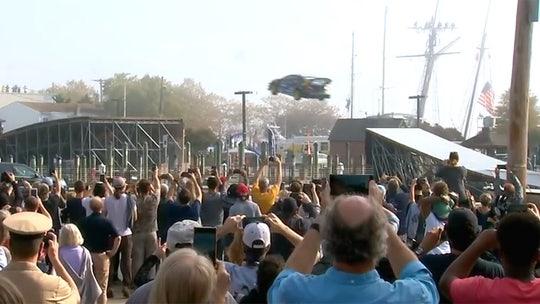 See it: Stuntman Travis Pastrana jumps waterway in Annapolis