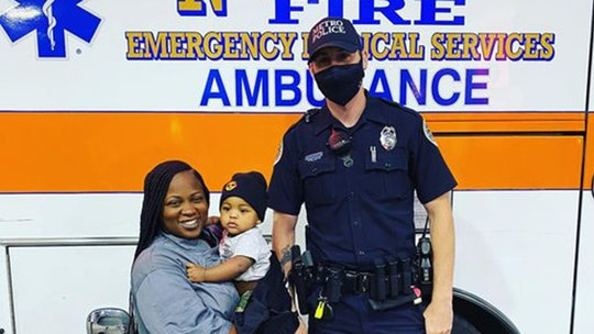 Nashville police officer's quick action saves life of choking 9-month-old baby