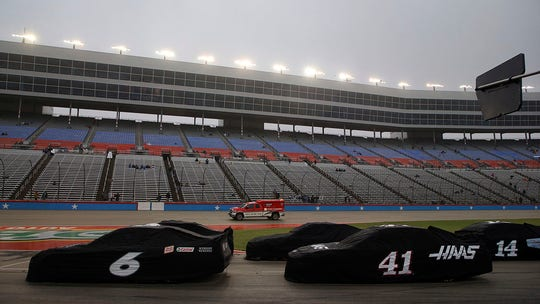 NASCAR's Texas Cup Series playoff race delayed for rain. What happens now?