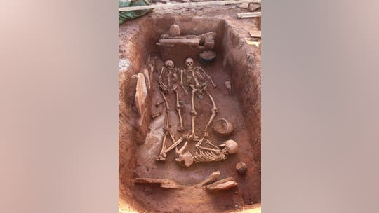 Grave of Iron Age warriors found with weapons in Russia
