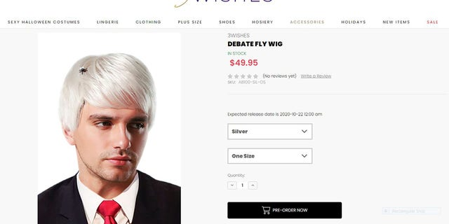 Just in time for Halloween, an online shop has flown to stock a bug-bedecked white wig inspired by the now-viral fly that landed in Vice President Mike Pence's hair during the vice presidential debate on Wednesday night.