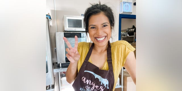 Reshmi Bennett, a professional chef and baker, runs Anges de Sucre in London. (Courtesy of Reshmi Bennett).