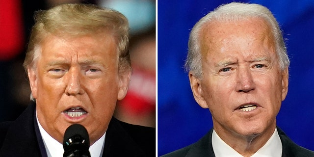 President Trump and Democratic presidential candidate Joe Biden are focused on battleground states like Pennsylvania and Florida that could tip the Electoral College. (AP)
