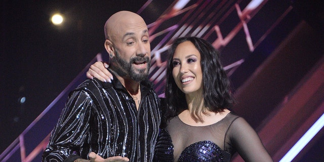 AJ McLean (left) and Cheryl Burke (right) on 'Dancing with the Stars.' (Eric McCandless /ABC via Getty Images)